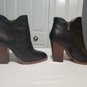 Halogen boots with heels, leather upper, Size 7M